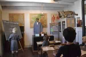 Salle de classe, musée des maisons d'autrefois