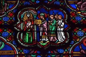 Vitrail XIX de Lobin. Sainte-Radegonde et son monastère