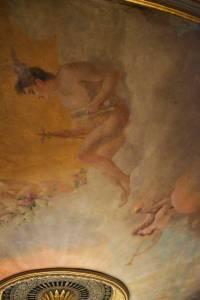 Détail du plafond peint de Vernon (restaurations 2013)