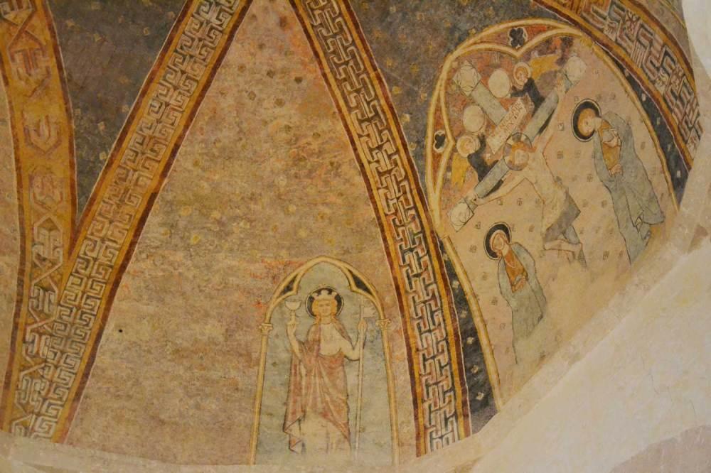 Peintures du choeur du XIIIe siècle