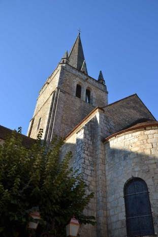 Eglise abbatiale, chevet et clocher