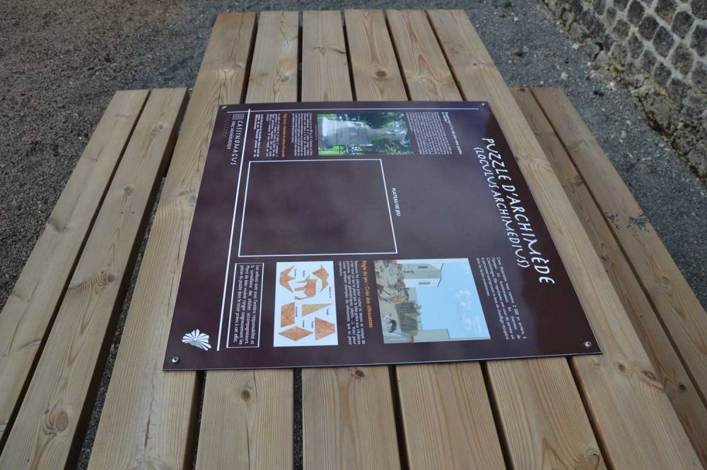 Le parcours ludique : le puzzle d'Archimède