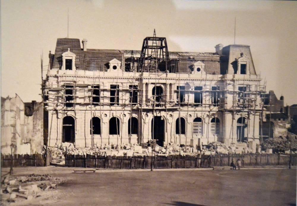 Hôtel de ville de Poitiers, en construction - 1869-1875