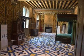Chambre de la reine, avec tomettes au sol