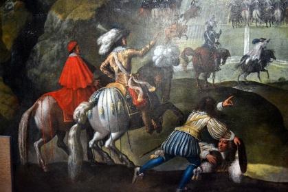 Claude Deruet - Le passage du pas de Suse - détail - XVIIe siècle
