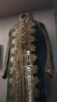 """Habit vert du """"petit habillement"""" porté par l'empereur lors de son couronnement comme roi d'Italie, 1805"""