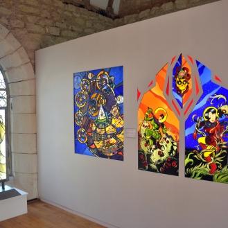 Mezzanine - exposition temporaire 2019 - les super-héros dans le vitrail