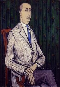 Portrait-de-christian-dior-Bernard-Buffet-1954-huile-sur-toile-116x81cm