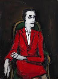 portrait-jacqueline-delubrac-Buffet-1955-huile-sur-toile-130x97cm