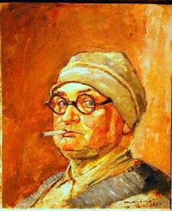 autoportrait-au-bonnet-1939-maurice-marinot-muse-dart-moderne-troyes-KMJ7B3