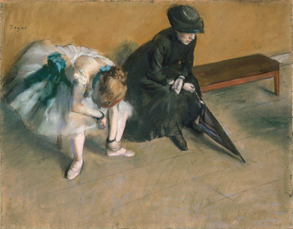 Degas-l-attente-mere-maquerelle-1882