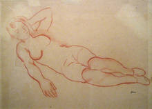 Georges-KARS-Reclining-Nude-with-Left-Arm-Raised-1476688065