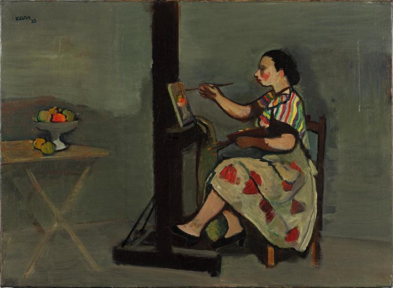 Georges_Kars,_L'élève_au_chevalet,_1938