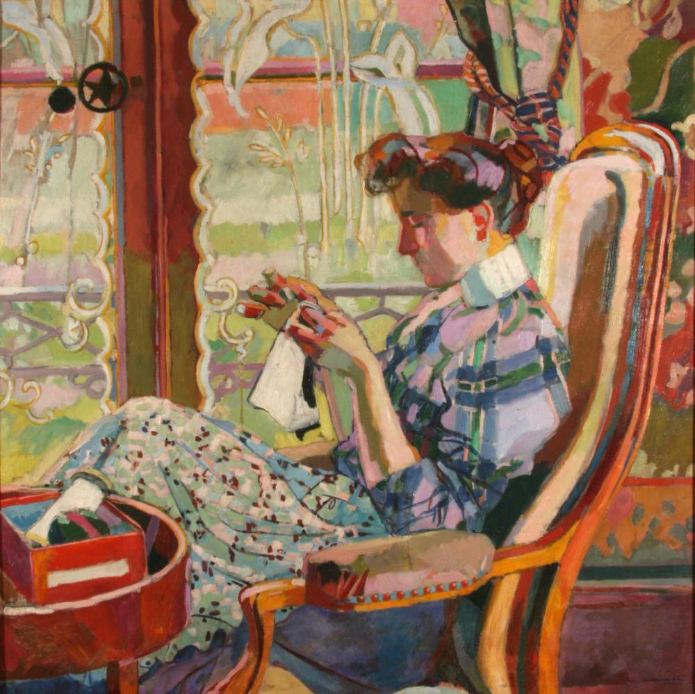 Maurice Marinot Brodeuse à la fenêtre 1907