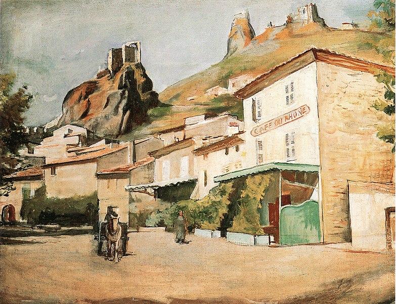 Tossa-del-mare-georges-Kars-huile-sur-toile-63X80cm